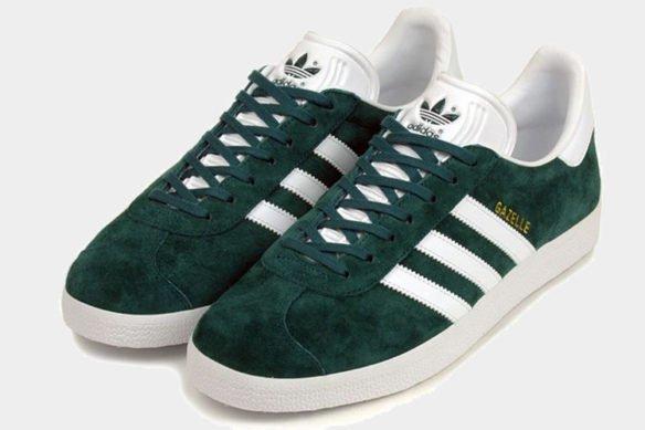 Фото Adidas Gazelle темно-зеленые - 3