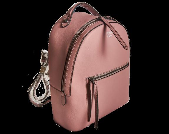 Фото розовый кожаный рюкзак - 3